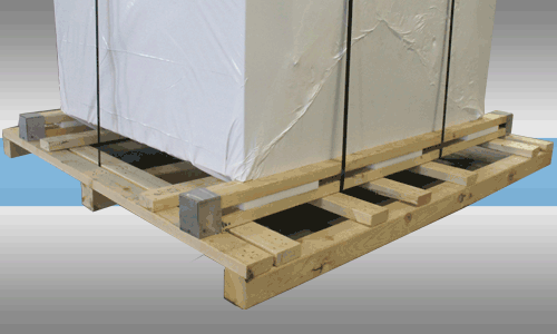 Shock-Absorbing Environmental Shipping Pallet