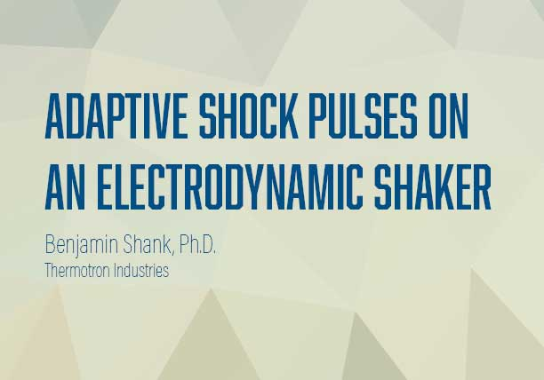 Adaptive Shock Pulses on an Electrodynamic Shaker